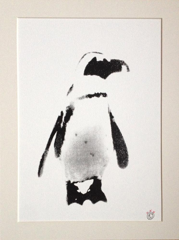 Pinguïn in de sneeuw