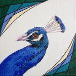 Schilderij pauw door Eline Vulsma