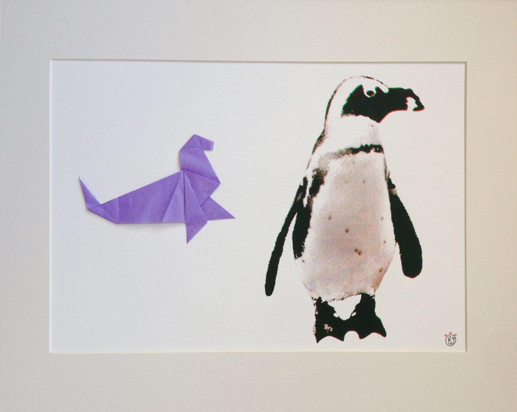 Pinguïn en zeehond