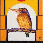 schilderij van een ijsvogeltje
